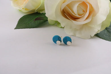 Collection Smile - Boucles d'oreilles rondes Turquoise