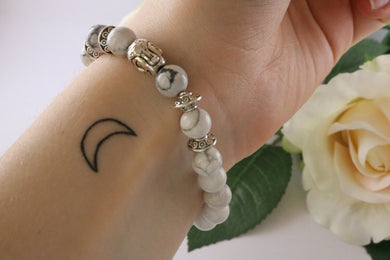 Collection Serenity - Bracelet en Howlite et Bouddha