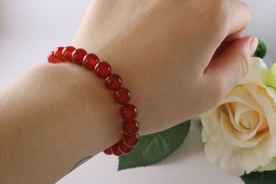 Collection Serenity - Bracelet Agate rouge