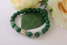 Collection Serenity - Bracelet Malachite et Bouddha