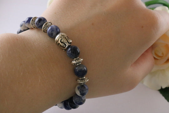 Collection Serenity - Bracelet en Sodalite et Bouddha