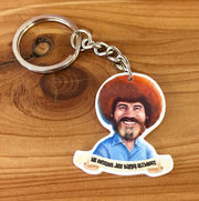 Bob Ross - Happy Accidents - Keychain - Purse zipper pull