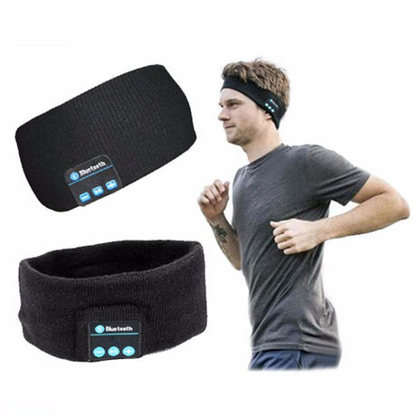 Smart Wearable Headphone Headband w/ Bluetooth & Mic