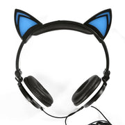 Illuminated Cat Ear Headphones with Stand