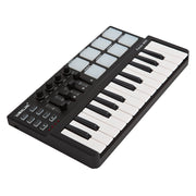 ammoon Portable 25 Key MIDI Controller & Keyboard with Drum Pad and USB Cable