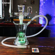 Russian Style Glass Hookah & Vaporizer with LED Light