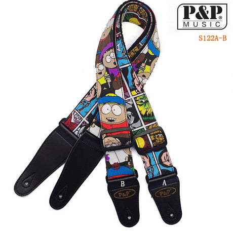 Adjustable Cartoon Guitar Strap