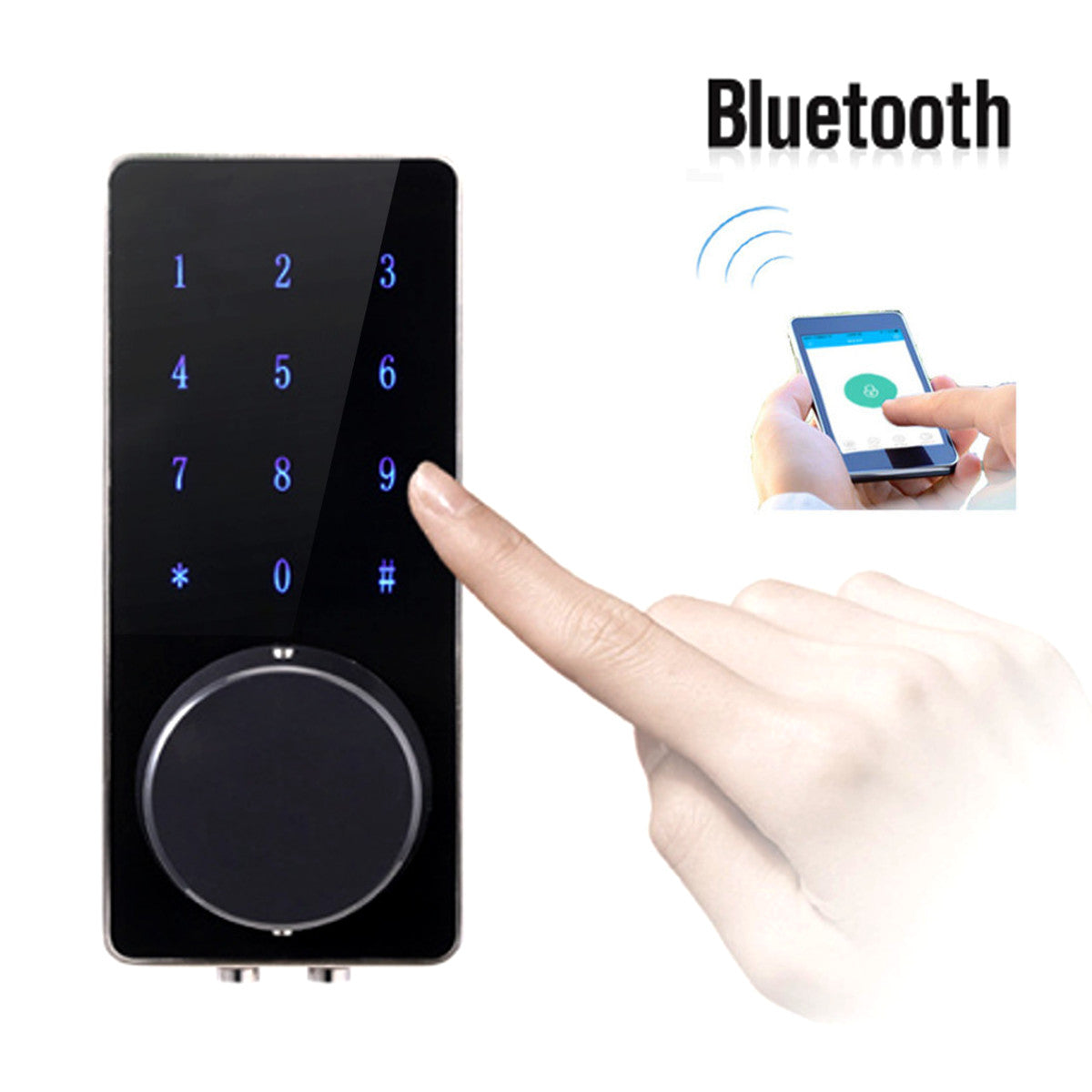 Electronic Bluetooth Smartcode Digital Door Lock, Keyless Touch Password  Deadbolt For Home, Hotel And