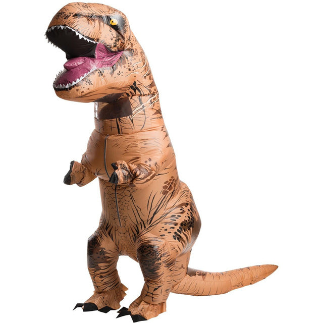 Adult T-Rex Party Costume for Halloween Cosplay Inflatable Dinosaur