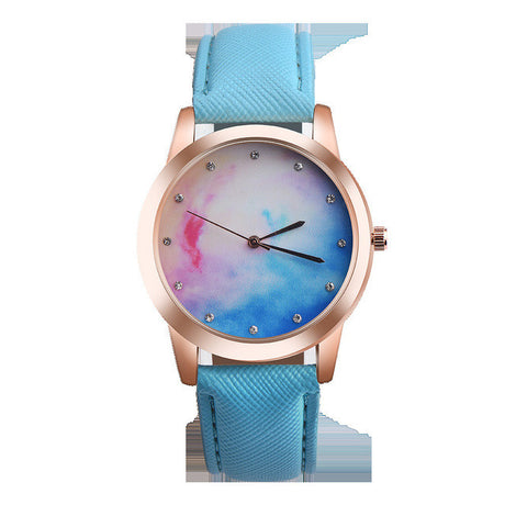 Womens Retro Cotton Candy Rainbow Watch