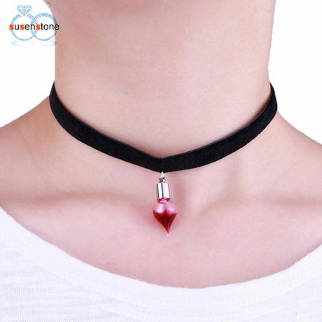 Blood Pendant Necklace