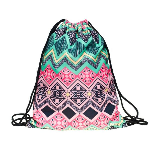 Southwest Style Drawstring Backpack