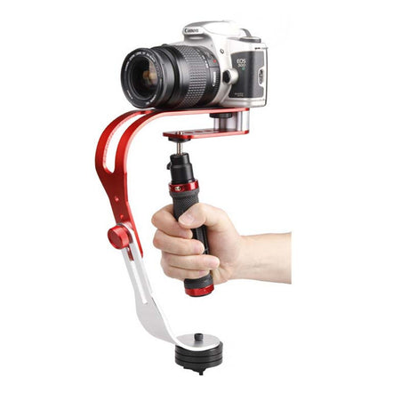 Aluminum Alloy Handheld Camera Stabilizer + Smartphone Clamp