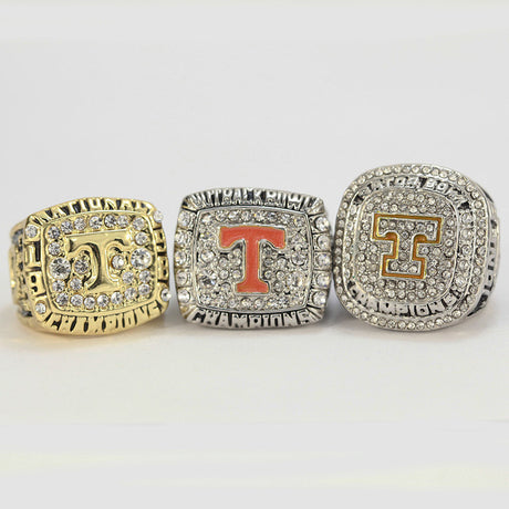3 pc TENNESSEE VOLUNTEERS  NATIONAL CHAMPIONSHIP RING SET 1998 2008 2015