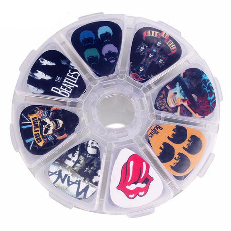 50pc Various Guitar Pick Set + Carrying Case