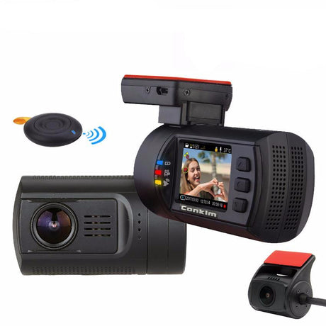 1080P HD Dual Lens Dash Camera & DVR DVR for Car with GPS