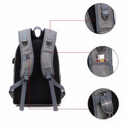 Canvas USB Charging Anti=Theft Backpack Travel Bag