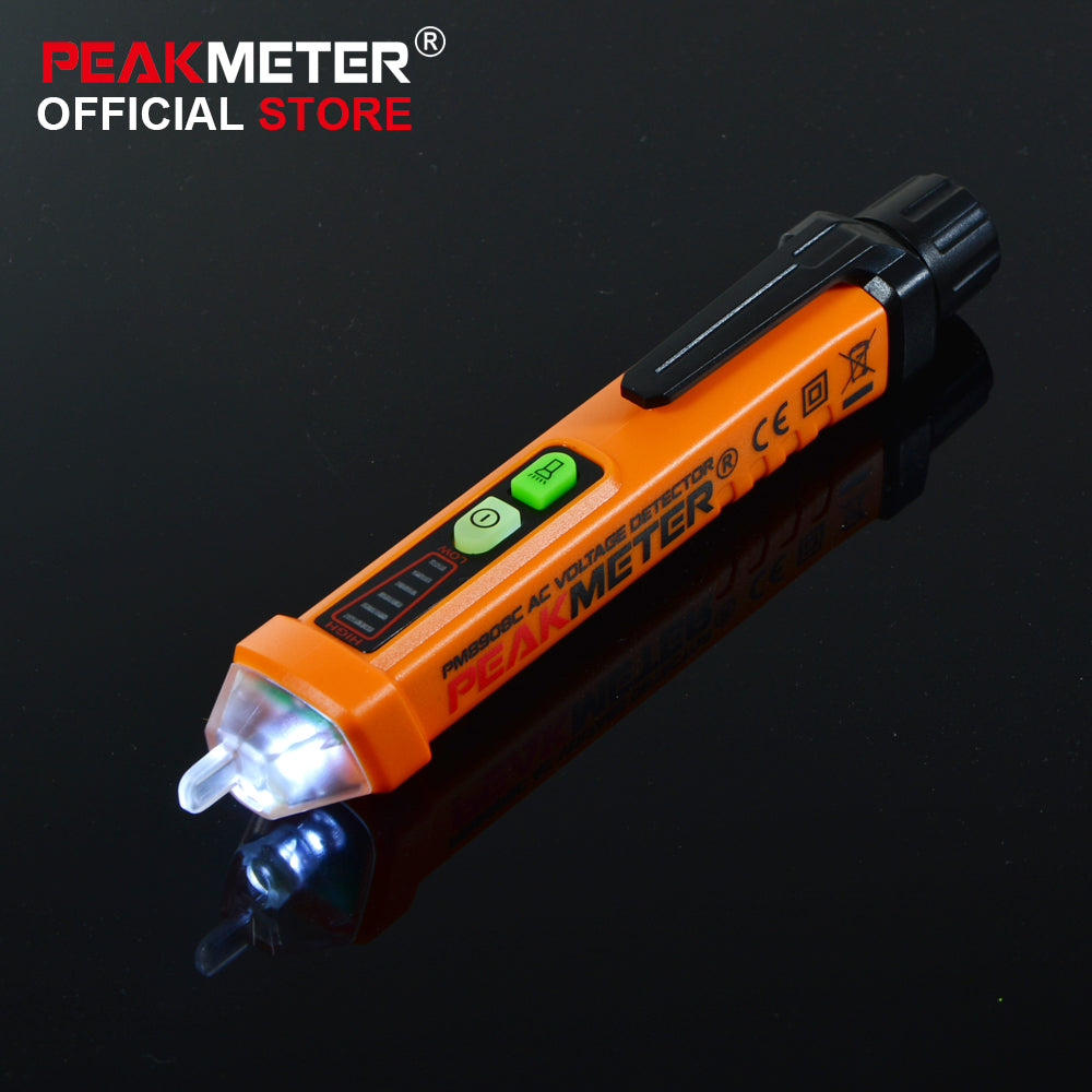 PEAKMETER Non-contact AC Voltage Detector/Tester 12V-1000V Voltage Detector