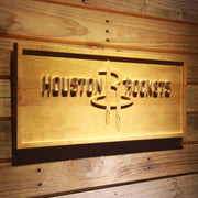 Houston Rockets 3D Wooden Sign