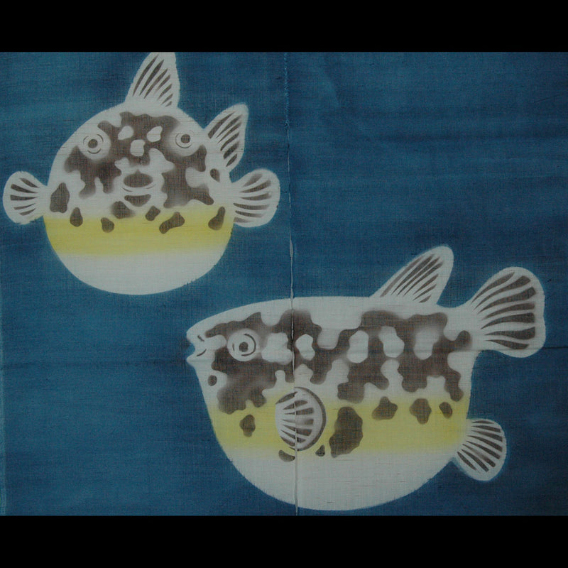 Fugu Blowfish on Blue (07DA02A)