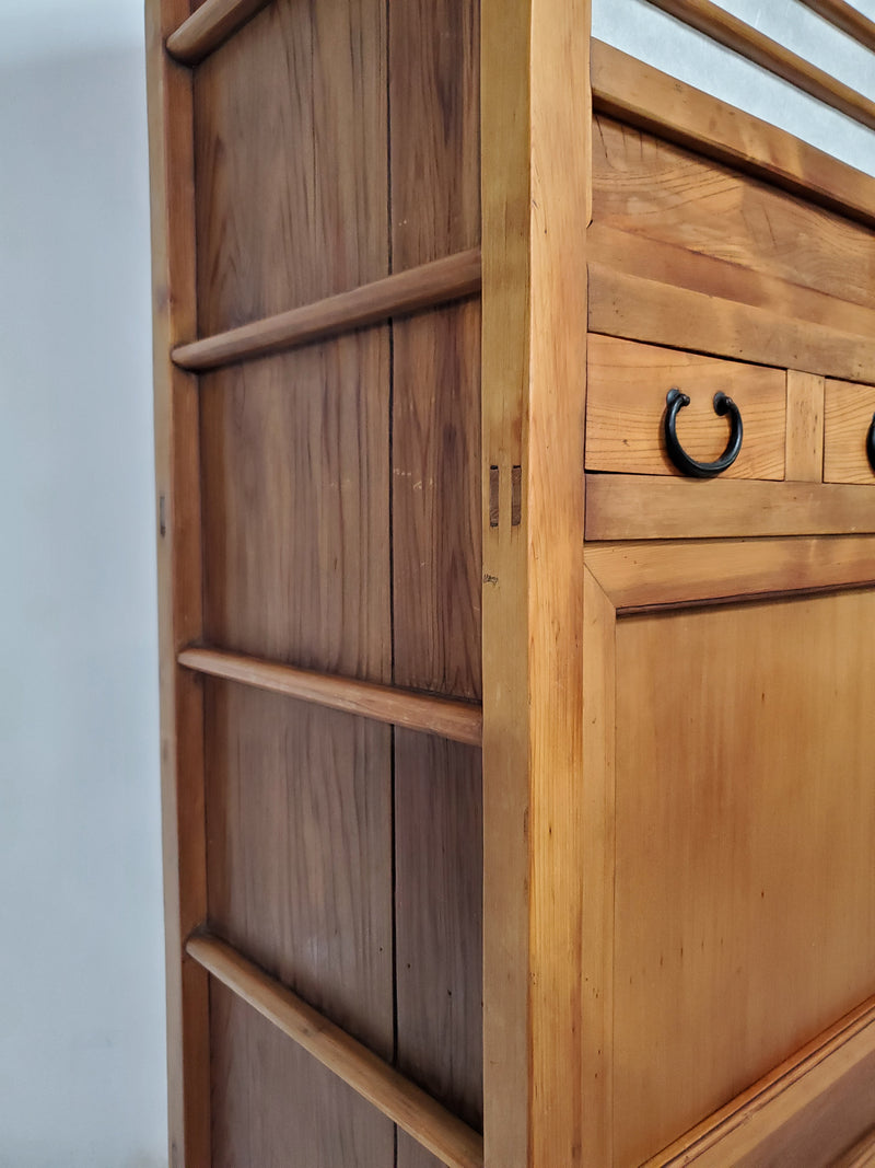 Mizuya tansu. Japanese kitchen chest
