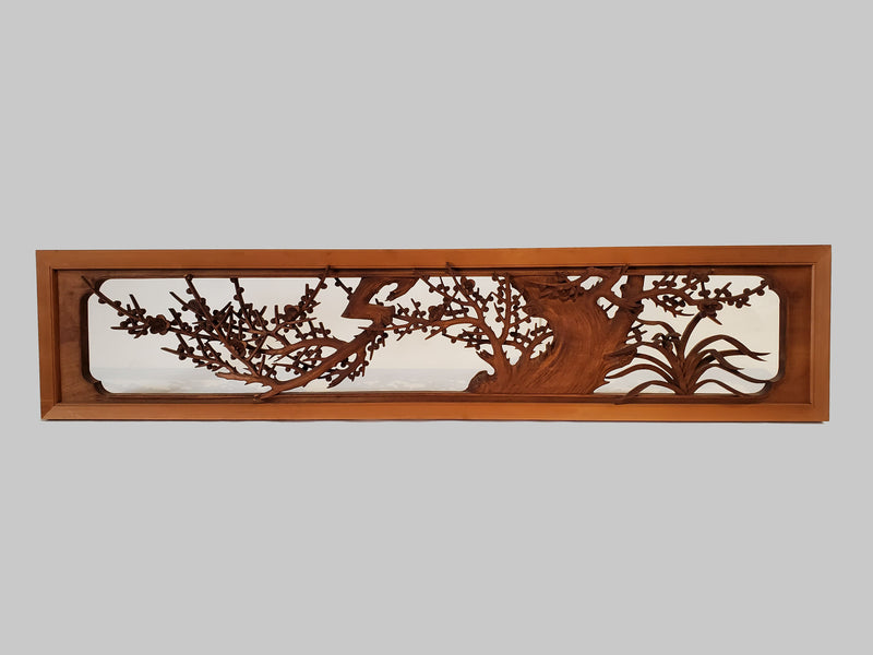 Japanese vintage ranma, Japanese wood carving. room partition