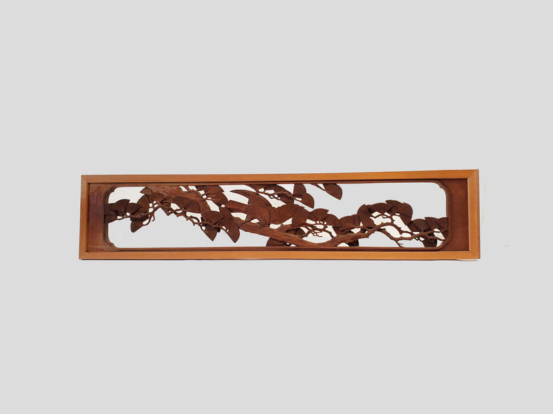 Japanese vintage ranma, Japanese wood carving. room partition (123B)