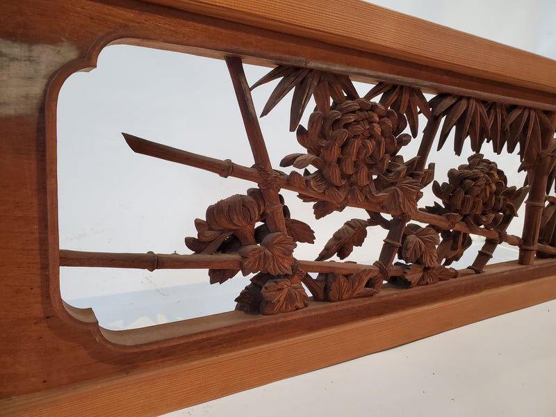 Japanese vintage ranma, Japanese wood carving. room partition (146B)