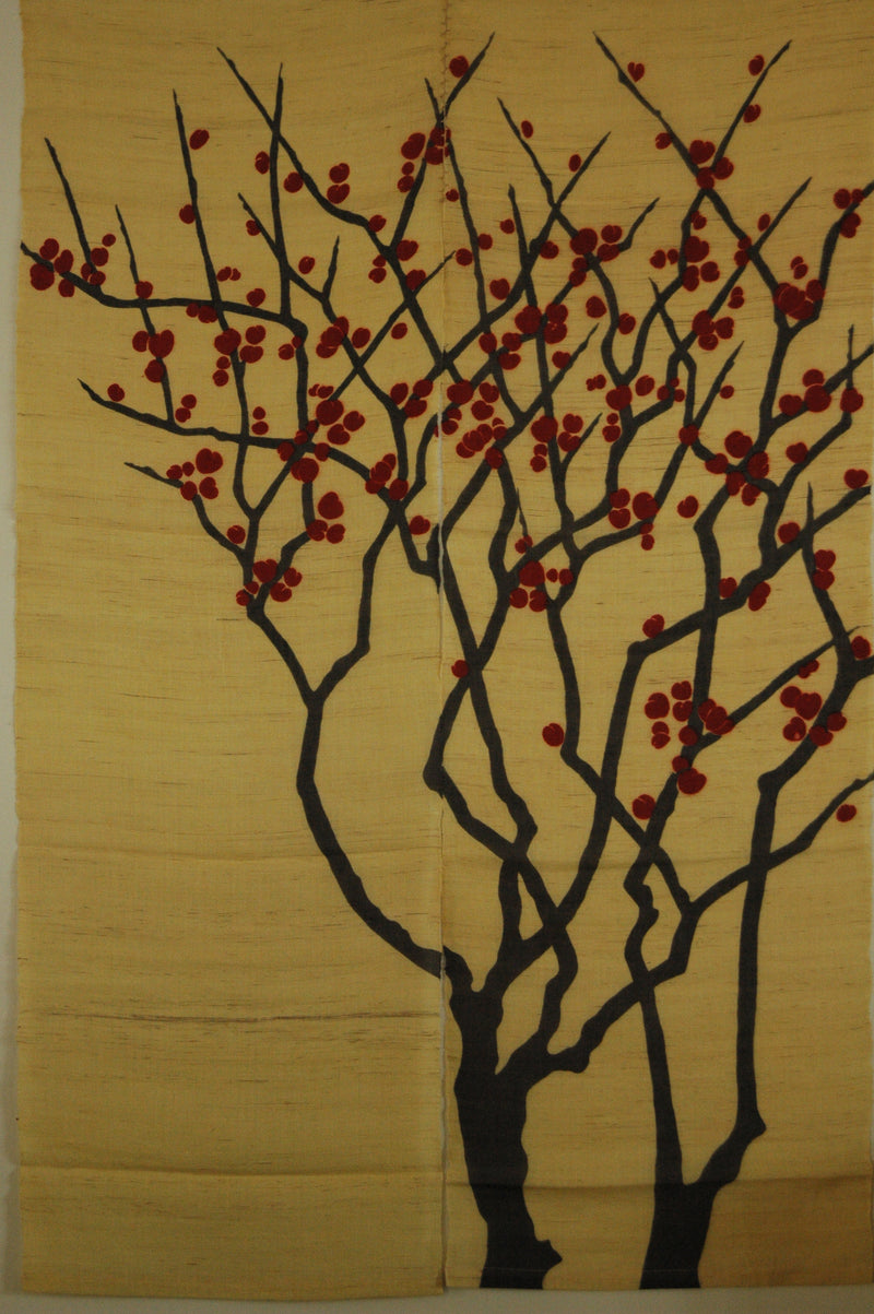 Red Plum On Yellow  (WE0660)