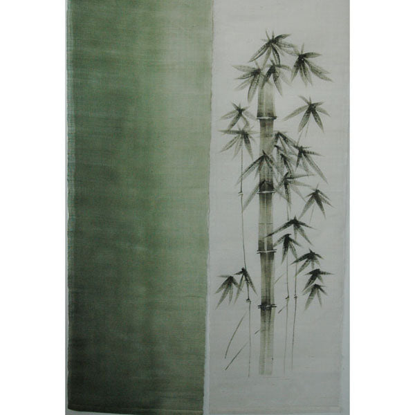 Bamboo on White and Green (05KD85)