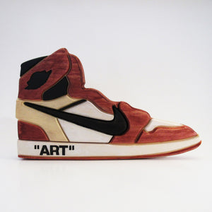 Off-White x AJ1 Wooden Art Piece
