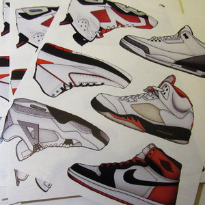 Air Jordan Sticker Sheets