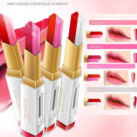 Moisturizing square gradient two-color Double LipStick