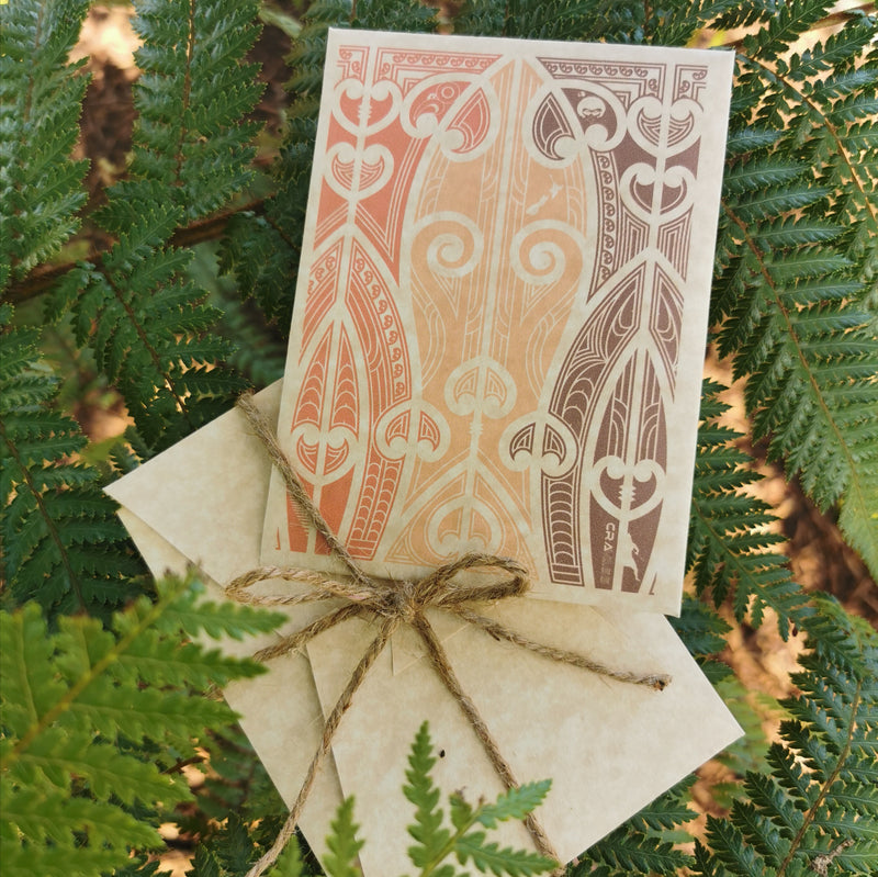 Cravass clothing gift cards with maori design.