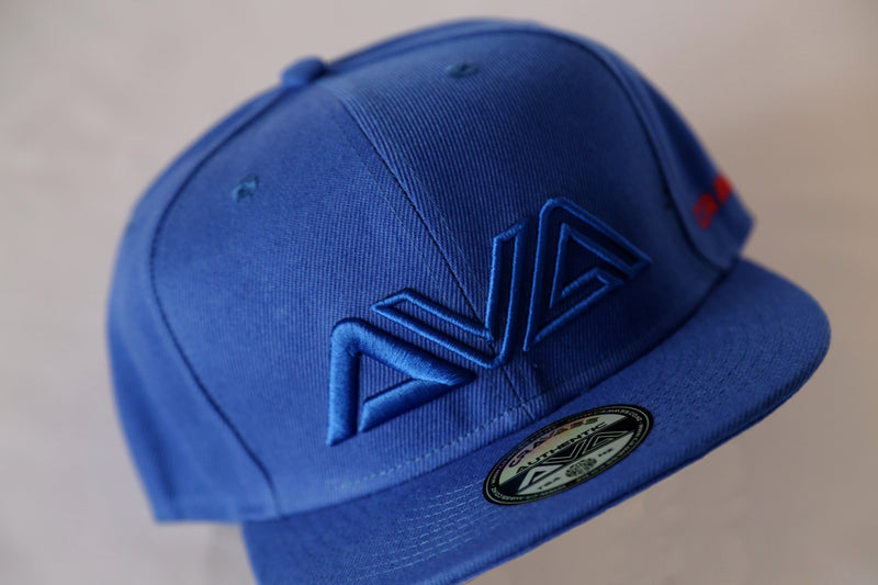 Blue snapback cap from cravass
