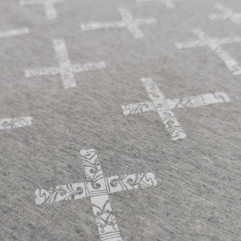 Close up photo of our Repeka cross dress design. Girls dress material