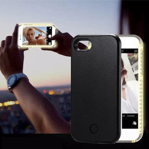 iPhone 8 Plus & 7 Plus + LED Light Up Selfie Smartphone Protective Back Cover Case
