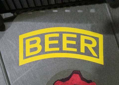 Beer Tab Decal