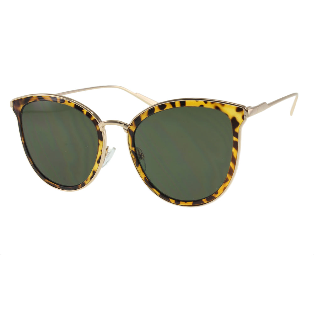 Tortoise Green Cat Eye Sunglasses - *Only Ships Within USA*