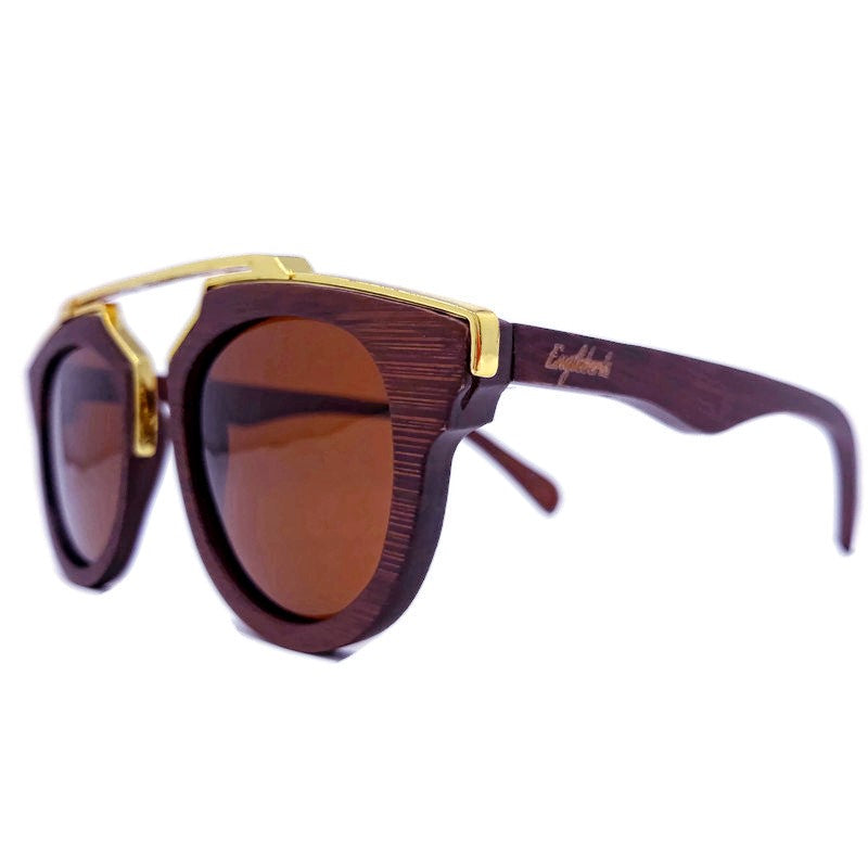 Cherry Wood Full Frame, Polarized with Metal Trim - *Only Ships Within USA*