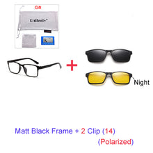 Unisex Magnet Sunglasses Polarized Clip On Glasses TR90 UV400 3D Optic Frames 7 In 1 Oculos