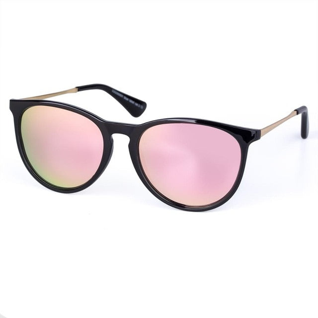 US Warehouse: Vintage Round Frame Mirror Leopard Cat Eye Sunglasses. Ultralight. UV400.