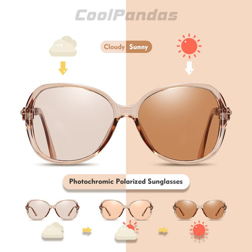 Women's Tinted Photochromic Polarized Driving Anti-glare Sunglasses