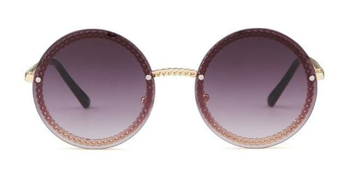 Women's Fashion Round Sunglasses (No Chain)  - *Only Ships Within USA*