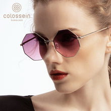 Load image into Gallery viewer, US Warehouse: Women's Fashion Metal Frame Polygon Clear Lens Sunglasses. UV400