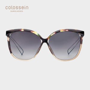 US Warehouse: Women's Cat Eye Fashion Tortoiseshell Sunglasses Metal Frame UV400