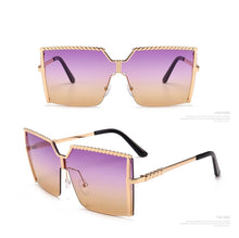 Load image into Gallery viewer, Oversized Square Sunglasses Vintage Alloy Frame - *Only Ships Within USA*