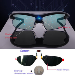 Men's Smart Polarized Photochromic Driving Sport Sunglasses