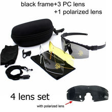 Load image into Gallery viewer, Men's Tactical Sports Sunglasses Sunglasses. UV400. 3 Lens.