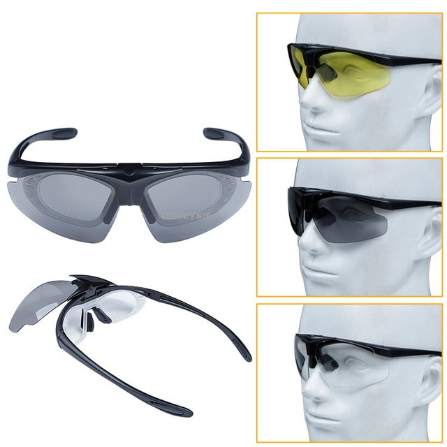 Tactical Flip-up Lens Sports Sunglasses. UV Protection.